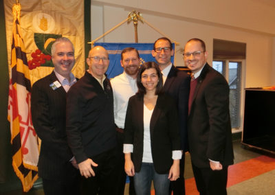 Rotary Club of Carroll Creek's Officers: Pete Fitzpatrick (Past President), Steve Heine, (Vice President), Eric Dallavalle (Treasurer), Melissa Muntz, (Secretary), Mike Moore (President), Jeff Griffin  (President Elect )
