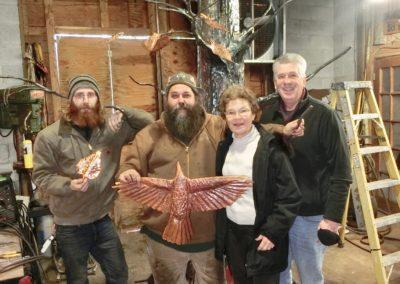 Apprendice-Welder Davin Boyce, Artisan Erin Aylor, Sponsors Ann & Ric Adams - Three Little Birds, 2020 - Under fabrication
