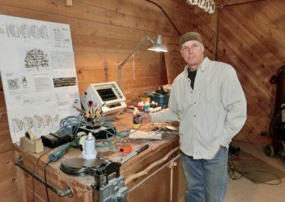 Artisan Thomas Sterner in his studio