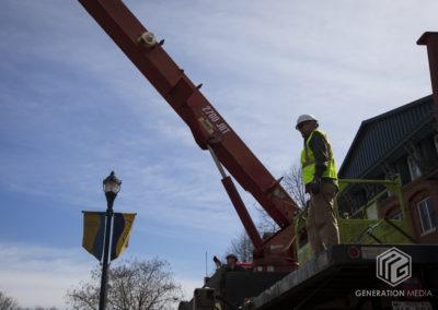 CCKAP 2020.03.14 Installation - Brock Gregory (Big Hook Crane & Riggings) & Rotarian Partner Darrell Guyton (Morgan Keller Construction)