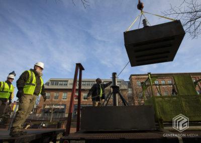 CCKAP 2020.03.14 Installing the pyramids - Rotarian Partner Darrell Guyton & Delbert Needy (Morgan Keller Construction)