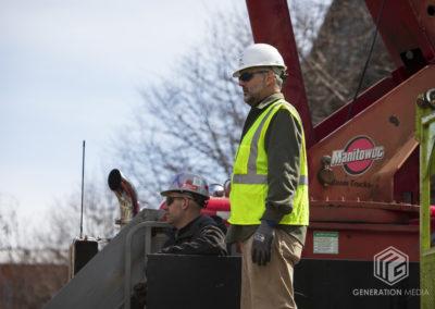 CCKAP 2020.03.14 Installation - Brock Gregory (Big Hook Crane & Riggings) & Rotarian Partner Darrell Guyton (VP, Morgan Keller Construction - Crane costs for installation)