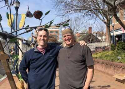 CCKAP 2020.03.14 Installation - Rotarian Tim Pierce & Artisan Thomas Sterner (Tree of Life)